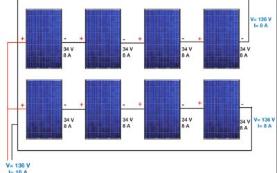 conectar paneles o baterías